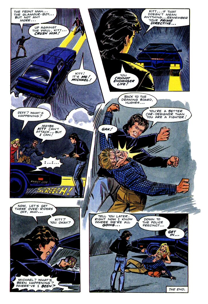 rider knight comic strips kitt napped annual 1986 archives