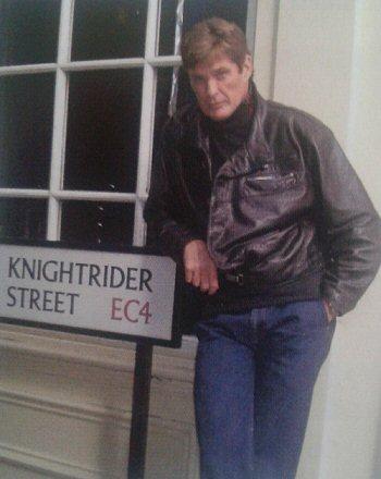 David Hasselhoff at Knightrider Street