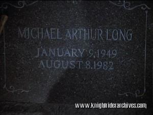 Michael Long's Tombstone