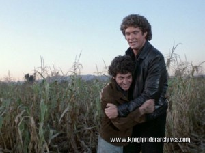 Paul LaGreca as Tino with David Hasselhoff in <i>Knight Rider</i>