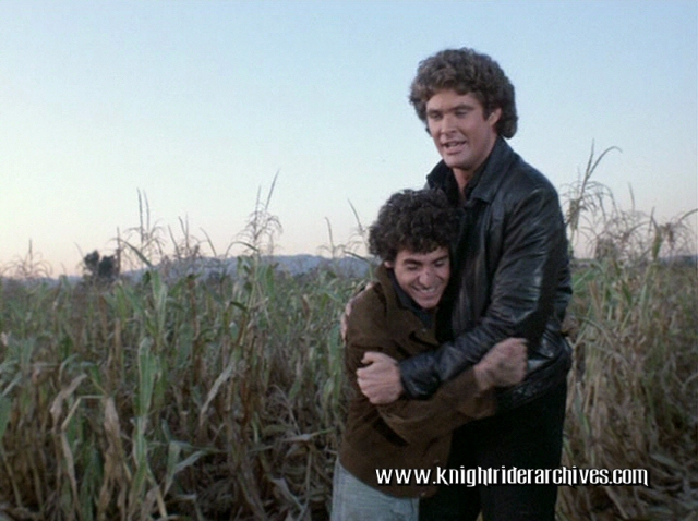 Paul LaGreca as Tino with David Hasselhoff in Knight Rider