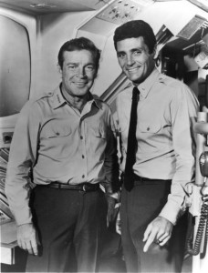 Richard Basehart and David Hedison in 'Voyage to the Bottom of the Sea'